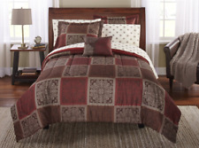 New Brown Tiles Full Size Comforter Set Bedding Sheets Shams Bed in a Bag