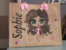 PERSONALISED HAND PAINTED JUTE BAGS ANY DESIGN CREATED BESPOKE,not claireabella