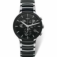 Vintage Rado Centrix Chronograph 40 MM Two-Tone Black Dial Men's Wrist Watch