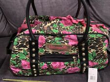 betseyville Luggage Travel Pink Rose Animal Print Handles Wheelie NWT ruffle HTF