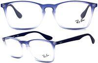 Ray-Ban Brillenfassung RB7045 5601 55mm blau weiß transparent matt 144 91