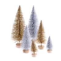 3pcs Stand Mini Christmas Tree Small Pine Trees Xmas Gifts Home Desktop Decor ^P