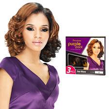 Outre Premium Purple Pack 3PCS Human Hair Blend Weaving Extension - Sea Wave