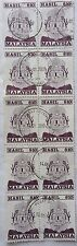Malaysia Used Revenue Stamps - 10 pcs RM10 Stamp (Old Design Big Size)