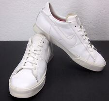 NIKE 2010 (SZ 9.5) WHITE ON WHITE LEATHER BASKETBALL SNEAKERS ATHLETIC SHOES AIR