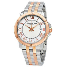 Raymond Weil Tango Silver White Dial Two-tone Mens Watch 5591-SB5-00658