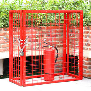 Lock Bottle Cage Collapsible 2/6/8 x Propane Gas Cylinder Storage - Heavy Steel