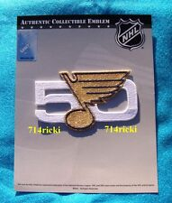 Official NHL 1967 2017 St Louis Blues 50th Anniversary collectible patch