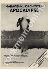 Mahavishnu Orchestra Apocalypse Knebworth Park MM4 LP/show Advert 1974