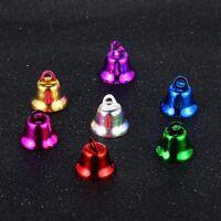 10 Colorful Iron Beads Christmas Jingle Bells Pendants Charms Decoration Jewelry