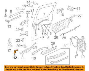 VW VOLKSWAGEN OEM 09-14 Routan Side Sliding Door-Stop Left 7B0843311F