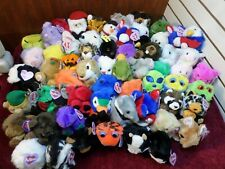 Lot of 60 Different Swibco PUFFKINS Vtg Rare Beanies 1997 Animals Holiday Alien