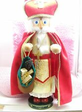 "GERMAN Handmade STEINBACH Limited Edition ""St. Nicholas"" Nutcracker,"