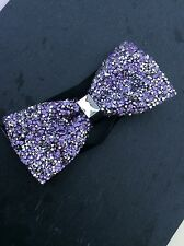 FREE GIFT BAG Men's Wear Bow Tie Sparkly Glittery Purple Lilac Wedding Fashion