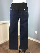PAIGE Maternity Jeans 31 Melrose Dark wash straight Excellent belly panel