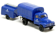 Brekina Borgward B 1500 THW OV Münster blau LKW MLW Anhänger Modell 1:87 H0