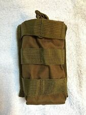 AIRSOFT HUNTING PAINTBALL MILITARY TAN SINGLE 5.56 MAG POUCH WEBBING