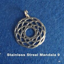 Stainless Steel Sacred Geometry Mandala Pendant Necklace Charm