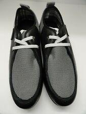 Polar-Tex Men's Casual Shoes Black & White Size 10.5
