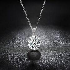 Sevil 18K White Gold Plated Swarovski Elements Necklace 18
