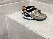 CLARKS BOYS/GIRLS FIRST SHOES TRAINERS JUNIOR/INFANTS SIZE UK 7.5G gold metallic