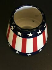 Yankee Candle Large Jar Topper/Shade ~ Patriotic ~ Red White Blue Stars Stripes