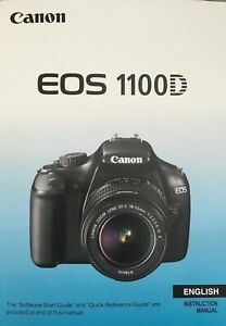 Canon EOS 1100D Manual - Printed & Professionally Bound Size A5 - NEW 288 Pages