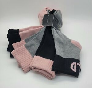 4 Pairs Of Minicci Women's Active Sport Pink Black Gray Small Size New Socks