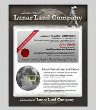 LUNAR LAND Buy Your Own Piece of Land on The Moon 5 Acre Share Certificate