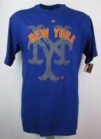 New York Mets Men's Big & Tall Domination T-Shirt MLB Majestic Blue
