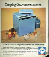 Publicité advertising 1975 Le réfrigerateur Groenland Glacière Camping gaz