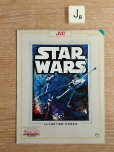 Star Wars NES  *INSTRUCTIONS ONLY* Very Good Condition For Age.