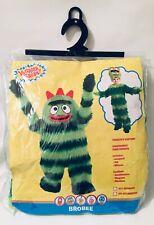 Yo Gabba Gabba Brobee Costume Green Monster Fur Stripe 2T Toddler Halloween NOS