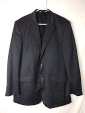 Pronto Uomo Mens Blazer Size 46 XLong Gray Comfort Stretch Two Button 100% Wool