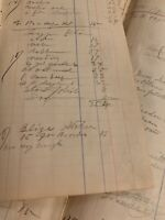 """Vintage Ledger Paper New Jersey, Great Calligraphy 1895. 5.5""""x 12""""."""