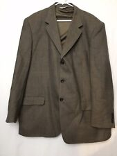 Linea Uomo Mens Jacket Suit Top 100% Lamb Wool Size 48 Long