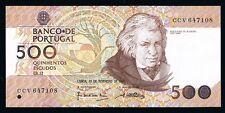 Portugal Banknotes 500 Escudos  AUNC  02-1992  Mouzinho  DA Silveira P180D