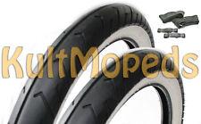 2 Weisswandreifen Reifen pas f Simson KR50 Spatz Anhänger SAVA 2,50x16 20x2,50