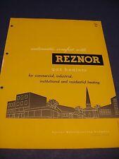 REZNOR Gas Heaters 1950's Catalog Asbestos History ITT Rezner