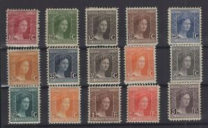 LUXEMBOURG, STAMPS, 1914, Mi. 92-106 **
