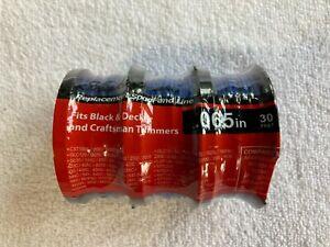 Black Decker Grass Hog 3-Pack .065 30' Trimmer Line Replacement Spools