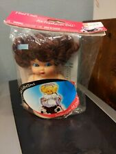 Fibre Craft Air Freshener Doll 5 3/4� Brown Hair Blue Eyes New