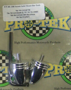 Pro Tek Motorcycle Bullet Bar Ends BE-20B CHROME Suzuki Hayabusa SV1000 GSXR 750