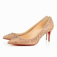 Christian Louboutin Escarpic 70mm Nude 6 36 studded Pointy Pumps NEW $1095