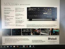 McIntosh MX160 11.1 surround pre-amp. An Amazing processor