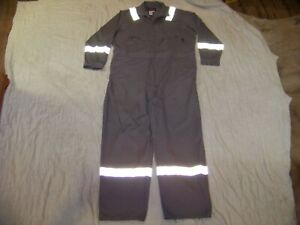 Men's Walls FR Coveralls with Reflective Strips  - 56 X-Tall  - Gray