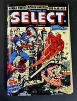 All Select Comics # 1  Golden Age Replica Edition ☆☆☆☆ Human Torch Cap Subby