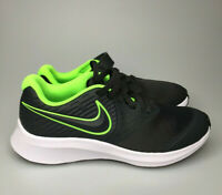 Nike Kids Star Runner 2 PSV Sneaker Anthracite Electric Green White Shoes Sz 3Y