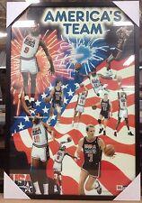 New Framed America's Dream Team Poster Print Olympic USA Basketball Jordan Bird
