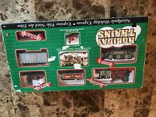 North Pole Holiday Express Train Set Battery Operated Works Christmas